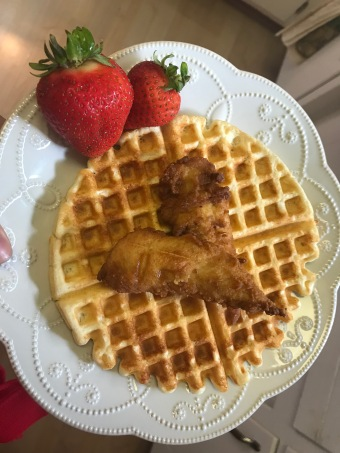 Chicken and Protein Waffle